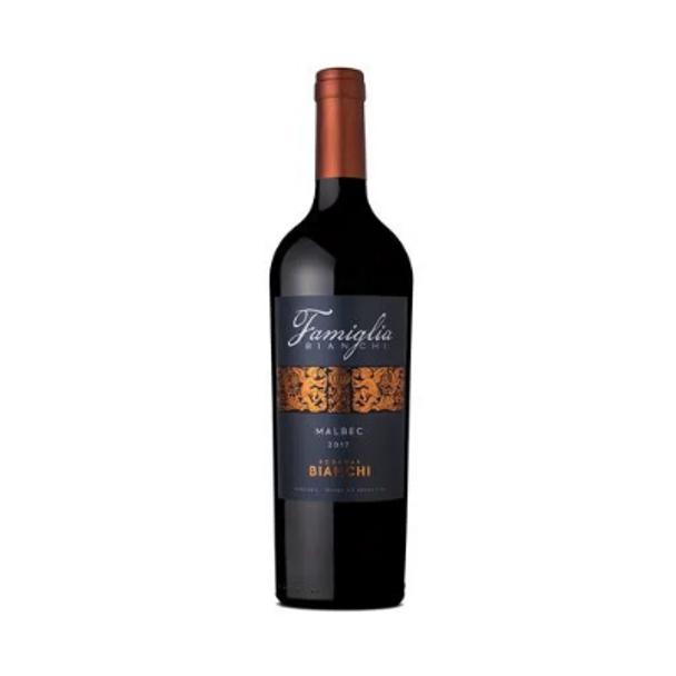 Famiglia Bianchi Wines Vino Tinto Malbec 2019 Red Wine from Mendoza, Argentina - ABV 14.5 % (750 ml / 25.4 fl oz)
