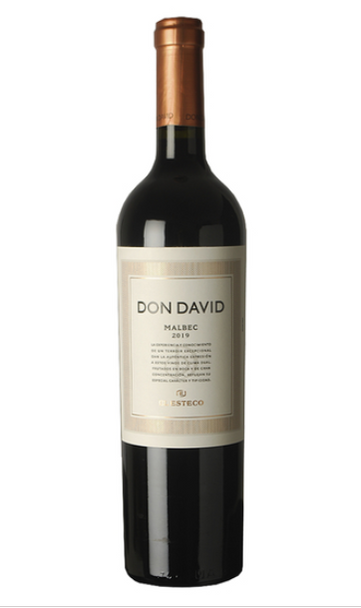 Don David Vino Tinto Malbec 2019 Red Wine by El Esteco Cellar - ABV 13.5%, 750 ml / 25.4 oz