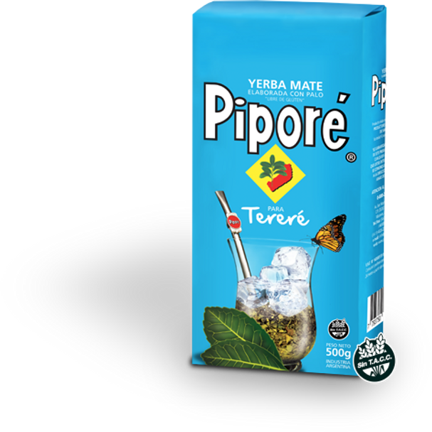 Piporé Yerba Mate for Tereré Low Powder (500 g / 1.1 lb)
