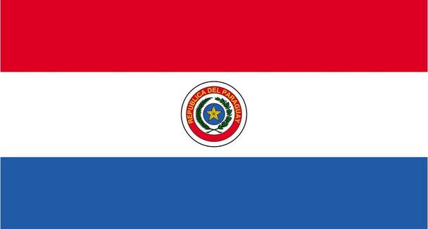 "Bandera Paraguay Tradicional de Poliéster Paraguay Flag - With Twine To Tie & Reinforced Seams, 90 cm x 150 cm / 39.4"" x 59.05 """