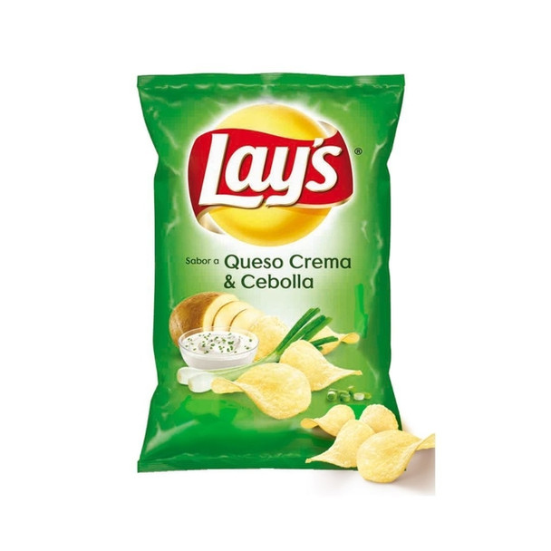 Lay's Papas Clásicas Sabor Crema y Cebolla Potato Chips Cream & Onion Flavor, 85 g / 2.99 oz