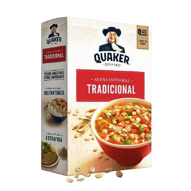 Quaker Avena Integral Arrollada Traditional Whole Oats Ideal for Soup, 470 g / 16.57 oz