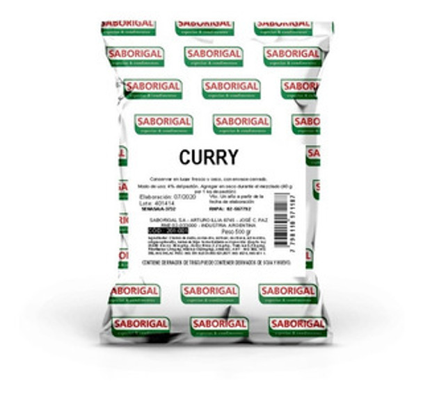 Saborigal Curry Condimento Mixed Spices Ground Coriander, Ground Chile, Paprika, Turmeric, Comin, Cloves & Nuteg, 500 kg / 1.1 lb bag