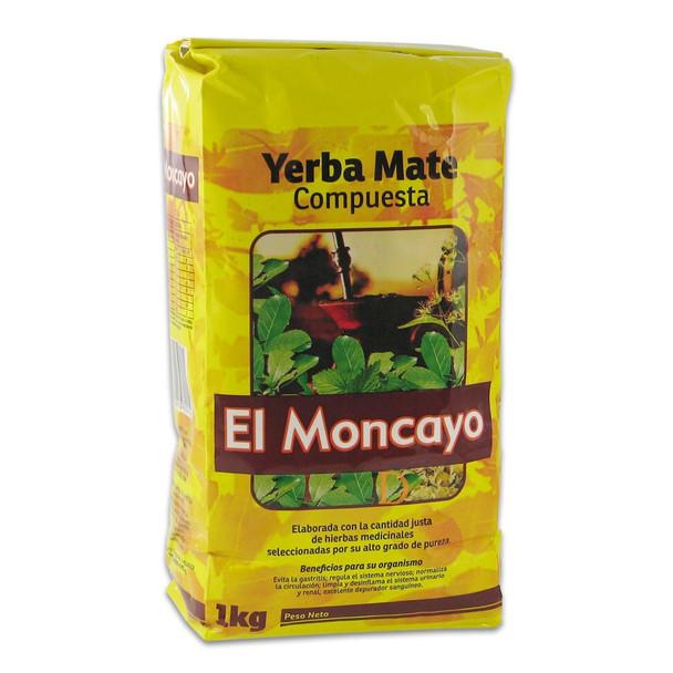 El Moncayo Yerba Mate Compuesta, 1 kg / 2.2 lb bag
