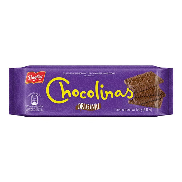 Chocolinas Traditional Chocolate Cookies, Perfect for Cakes with Dulce de Leche Chocotorta, 170 g / 6.0 oz (pack of 3)