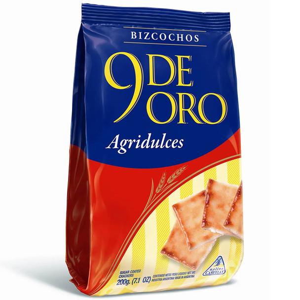 9 de Oro Biscuits Bittersweet Bizcochos, 200 g / 7.1 oz (pack of 3)