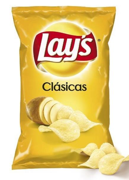 Lay's Papas Clásicas Classic Potatoes Chips, 145 g / 5.11 oz