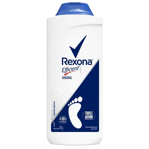 Rexona Efficient Original Talco Para Pies Shoe Deodorant Talcum Powder, 100 g / 3.5 oz
