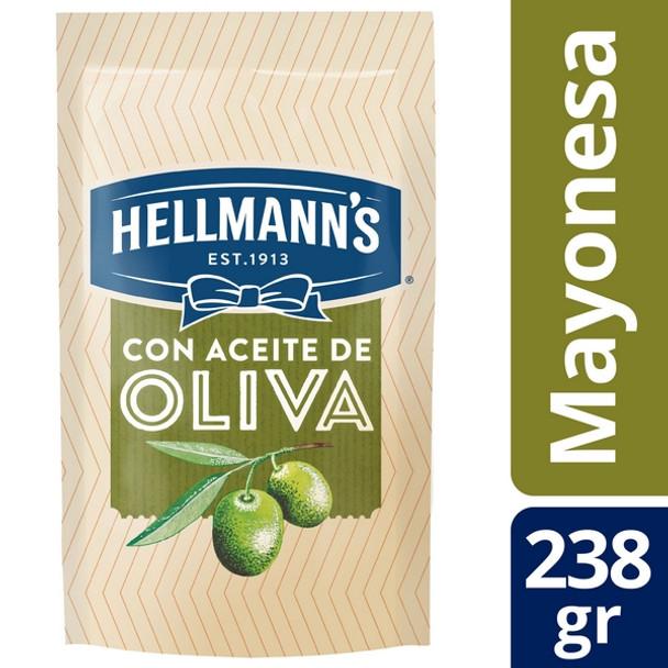 Hellmann's Mayonesa Con Aceite De Oliva Olive Oil Mayonnaise, 238 g / 8.39 oz