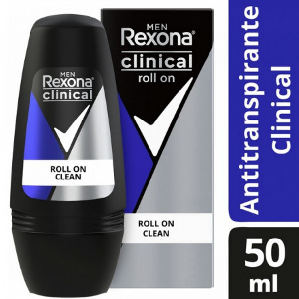Rexona Clinical Clean Roll On 3x More Protection 96 Hour Antiperspirant, 50 g / 1.76 oz