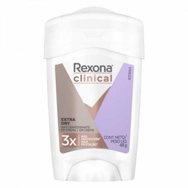 Rexona Clinical Cream Extra Dry 3x More Protection 96 Hour Antiperspirant, 48 g / 1.69 oz