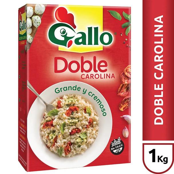 Gallo Arroz Doble Carolina Grano Grande Creamy Rice Ideal for Risotto, 1 kg / 2.2 lb