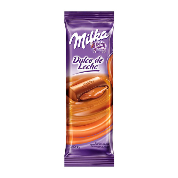 Milka Milk Chocolate Bar Filled with Dulce de Leche, 135 g / 4.8 oz (pack of 2)