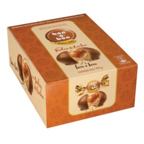 Bon o Bon con Dulce de Leche Classic Bon o Bon Milk Chocolate Bites Filled with Dulce de Leche - Special Edition, 16 g / 0.56 oz (box of 12)