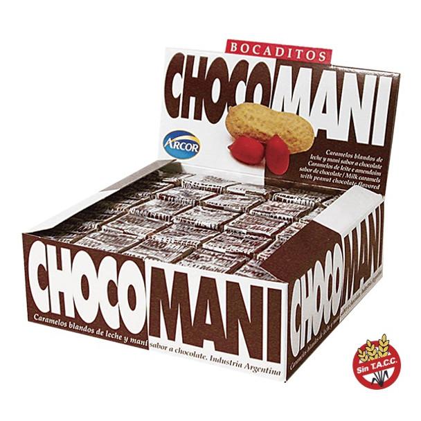 Bocaditos ChocoManí Caramelos Blandos de Leche y Maní Milk Chocolate & Peanuts Soft Candies - Gluten Free, 812 g / 28.6 oz (125 units)