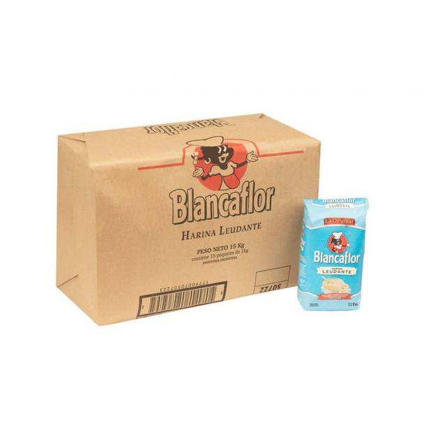 Blancaflor Self-Rising Leavening Wheat Flour Harina with Vitamins Ready to Use Wholesale Bulk Box, 1 kg / 2.2 lb (15 count per box)
