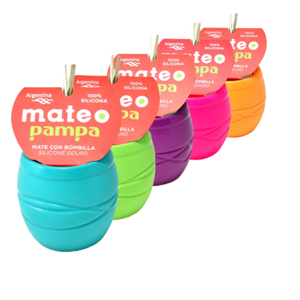 Silicone Pampa Mate Gourd Unique Design with Bombilla Included - Dishwasher Safe, Easy To Empy by Silicosas (Various Colors Avilable)
