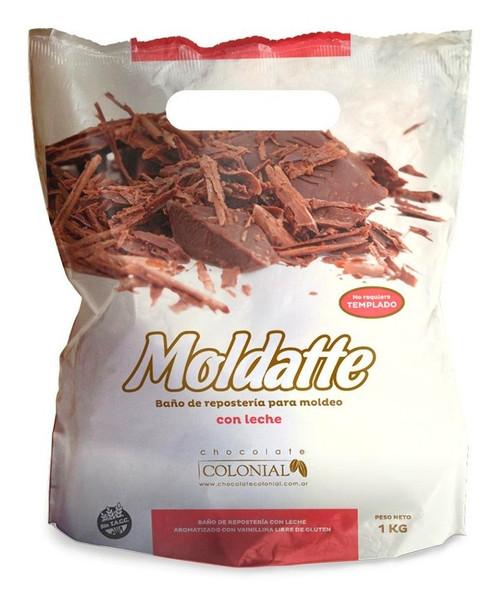 Milk Chocolate Coating Confectioner's Baño de Repostería con Leche Vanilla Flavored Gluten-Free, 1 kg / 2.2 lb sealed bag