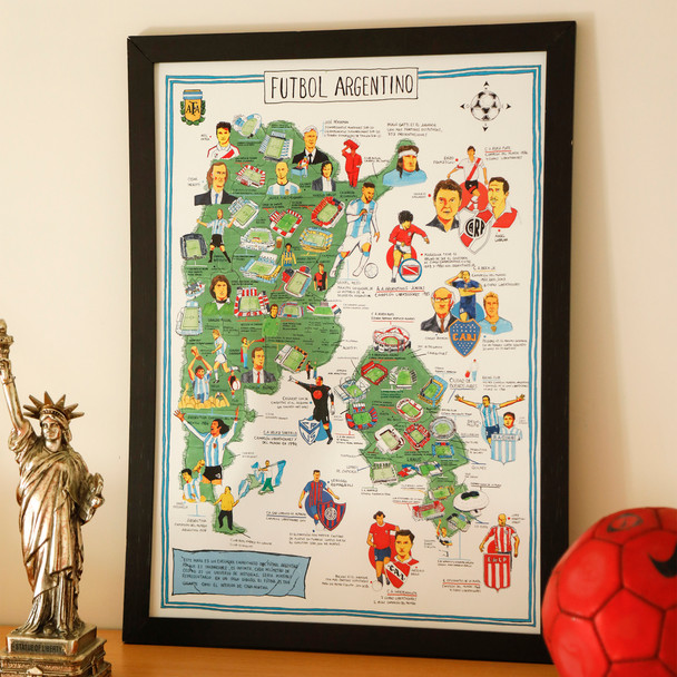 Mapoteca Illustrated Maps, Posters & Drawings: Fútbol Argentino, Patagonia, Flores Medicinales, Mariposas (various options)