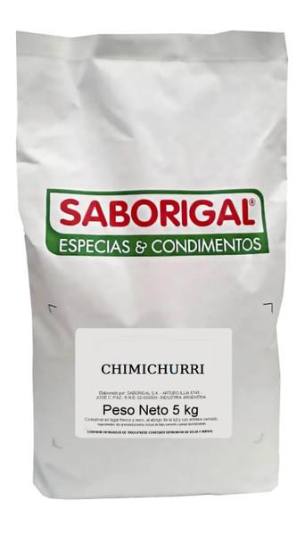Saborigal Chimichurri Condimento Mixed Spices Salt, Orégano, Dehydrated Garlic, Parsley & Ground Chili, 5 kg / 11 lb bag