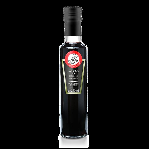 San Giorgio Aceto Con Humo Líquido Balsamic Vinegar Aceto with Liquid Smoke, 250 ml / 8.5 fl oz