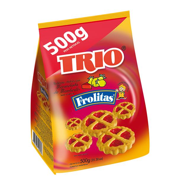 Trio Frolitas Quince Jelly Cookies Mermelada de Membrillo, 500 g / 17.6 oz