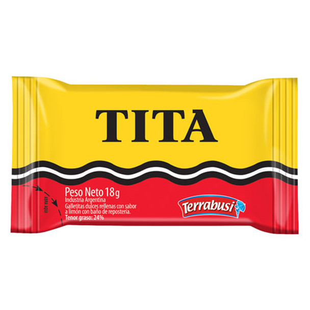 Tita Chocolate Coated Cookie With Lemon Cream Filling, 18 g / 0.63 oz (pack of 6)