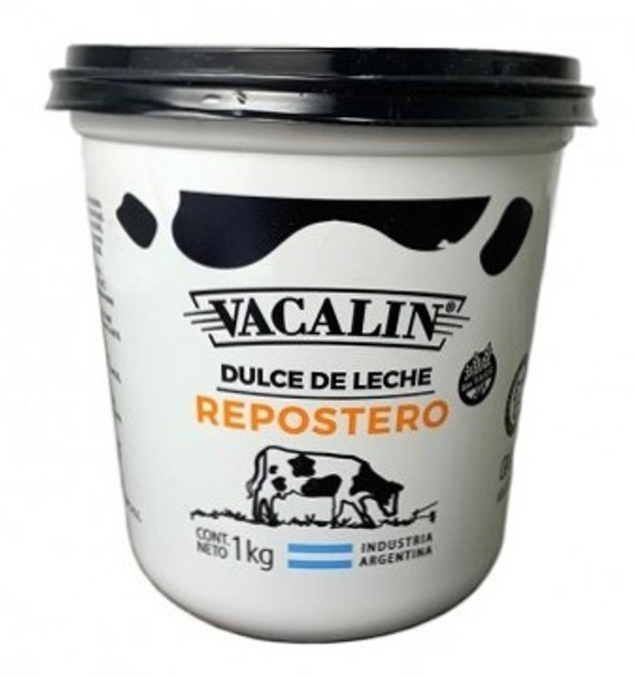 Vacalin Dulce de Leche Reposteria, Confectioner's Thicker Milk Confiture for Bakeries, Cakes and Pastry, 1 kg / 35.3 oz
