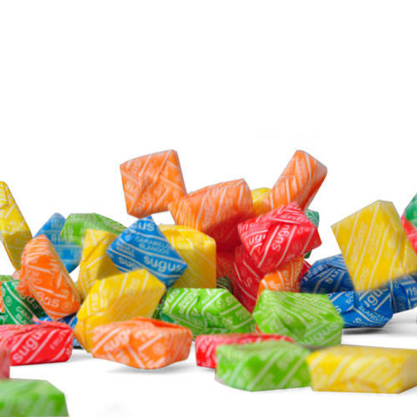Sugus Surtidos Soft Candy Blocks Assorted Flavors Strawberry, Orange, Pineapple, Mint, Lemon & Green Apple, Gluten-Free, 150 g / 5.3 oz bag