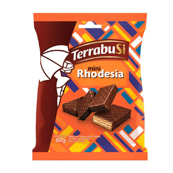 Mini Rhodesia Small Biscuits with Creamy Lemon Filling and Chocolate Coated, 60 g / 2.1 oz