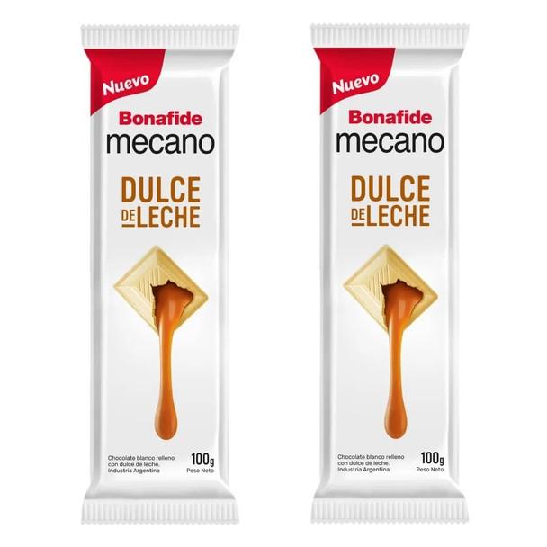 Mecano Dulce de Leche White Chocolate Bars with Dulce de Leche Filling, 100 g / 3.5 oz bar (pack of 2)
