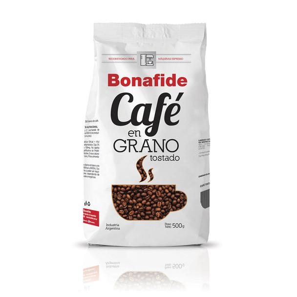 Bonafide Café En Grano Roast Whole Bean Coffee Recommended For Espresso Machines, 500 g / 1.1 lb bag