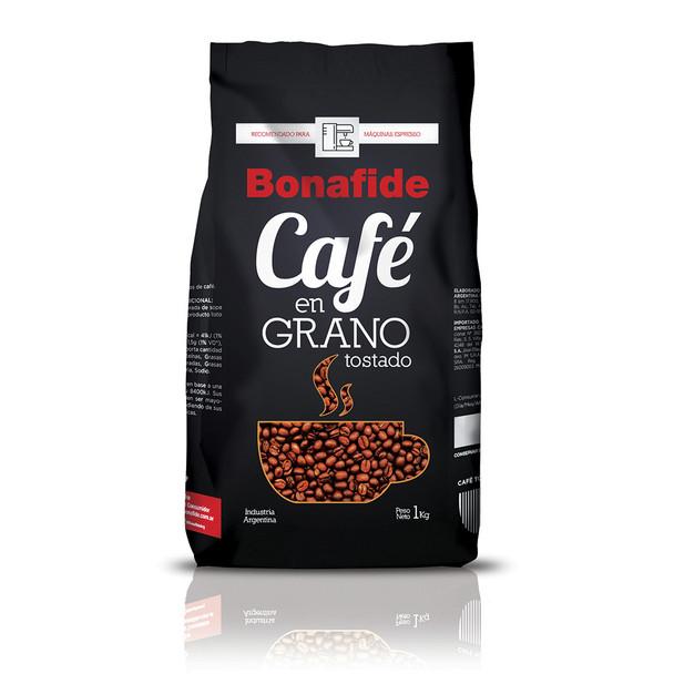Bonafide Café En Grano Roast Whole Bean Coffee Recommended For Espresso Machines, 1 kg / 2.2 lb bag