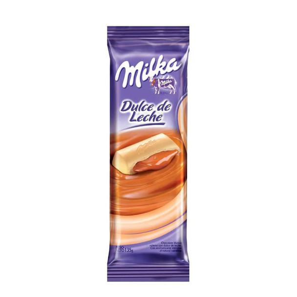 Milka White Chocolate Bar Filled with Dulce de Leche, 135 g / 4.8 oz (pack of 2)