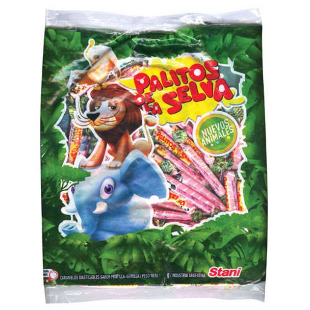 Palitos de la Selva Soft Candies Vanilla & Strawberry, 600 g / 22.2 oz bag
