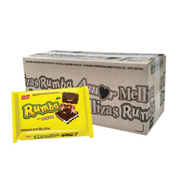 Rumba Sandwich Cookies with Chocolate and Coconut Cream Original Flavor Wholesale Bulk Box, 336 g / 11.9 oz ea (box of 12 count)
