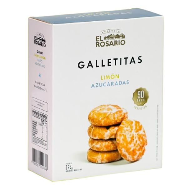 Estancia El Rosario Galletitas de Limón Azucaradas Sugary Lemon Cookies, 125 g / 4.41 oz box