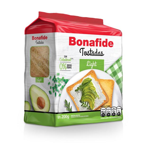 Bonafide Tostadas Light Breakfast Toast Light & Crispy Toasted Bread, 200 g / 7.05 oz