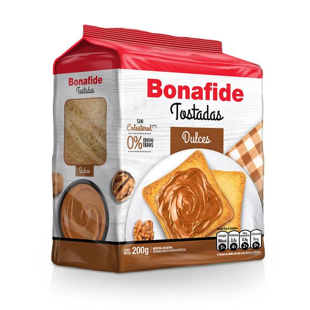 Bonafide Tostadas Dulces Breakfast Toast Sweet & Crispy Toasted Bread, 200 g / 7.05 oz