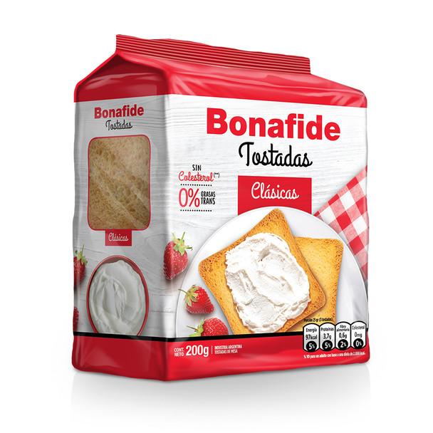 Bonafide Tostadas Clásicas Breakfast Toast Classic Crispy Toasted Bread, 200 g / 7.05 oz