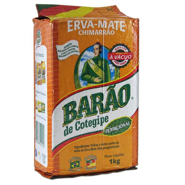 Barão de Cotegipe Tradicional Erva-Mate for Chimarrão in Vacuum Pack (1 kg / 2.2 lb)