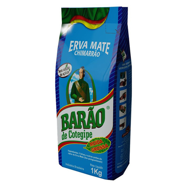 Barão de Cotegipe Moída Grossa Erva-Mate for Chimarrão in Laminated Pack (1 kg / 2.2 lb)