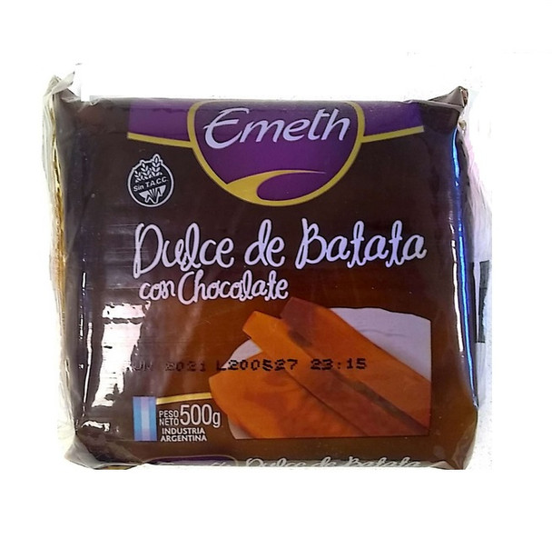 Dulce de Batata Sweet Potato Jelly with Vanilla and Chocolate,  500 g / 1.1 lb sealed bar