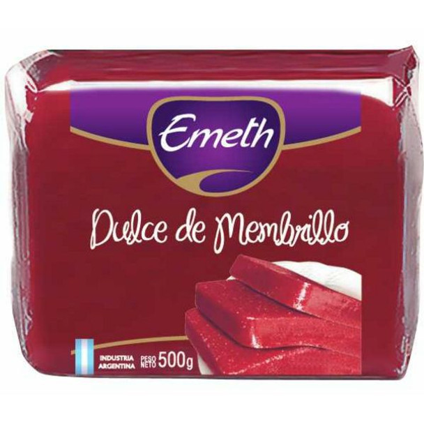 Emeth Dulce de Membrillo Quince Jelly Sealed Bar for Desserts, Cheese and Cakes, 500 g / 1.1 lb