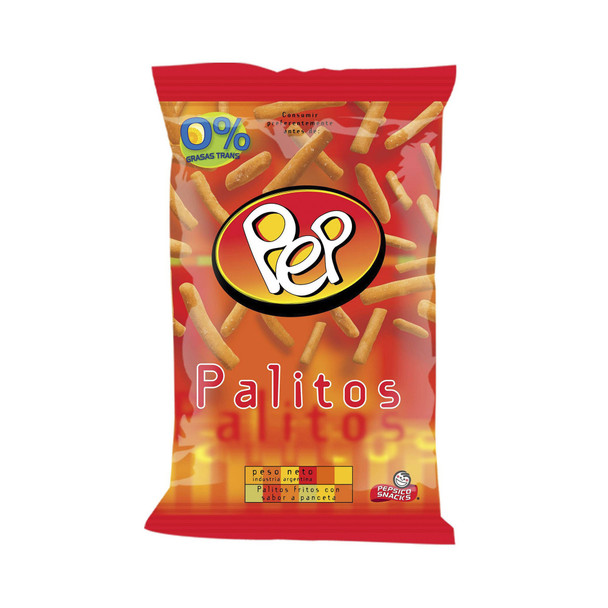 Palitos Pep Snack Fried Wheat Flour Sticks with Bacon Flavor, 150 g / 5.3 oz bag