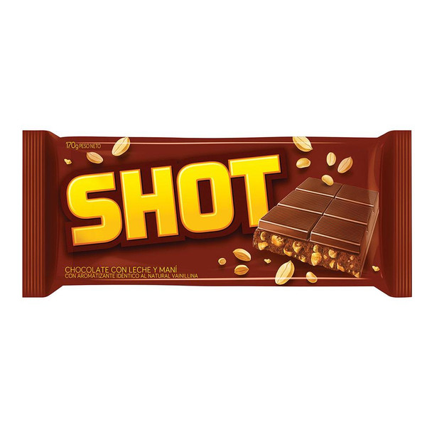 Shot Milk Chocolate Bar with Peanuts, 170 g / 6 oz bar