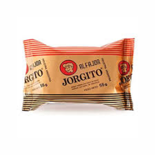 Alfajor Jorgito Negro Dulce de Leche w/ Chocolate Coating, 55 g / 1.94 oz (pack of 12)