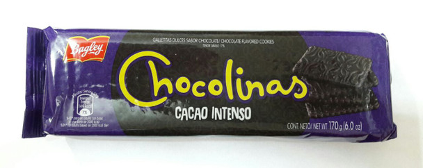 Chocolinas Cacao Intenso Extra Cacao Traditional Chocolate Cookies, Perfect for Cakes with Dulce de Leche Chocotorta, 170 g / 6.0 oz (pack of 3)