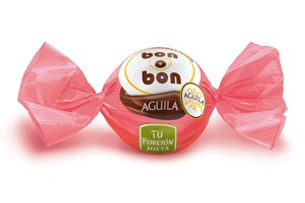 Bon o Bon Chocolate Coated Bite Filled With Aguila Chocolate from Argentina, 15 g / 0.5 oz (pack of 10)