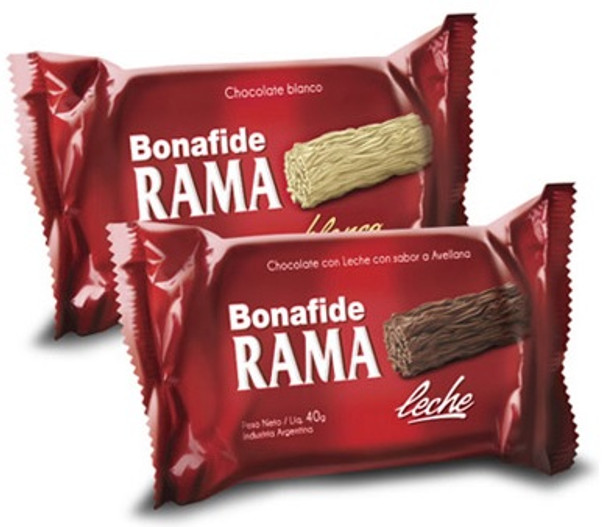 Bonafide Rama Negro Handcrafted Branched Milk Chocolate, 40 g / 1.4 oz (pack of 3)